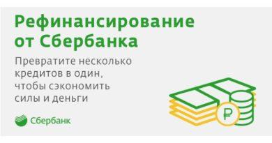 Кредиты на рефинансирование от Сбербанка