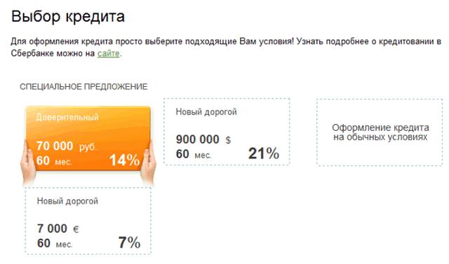 Как отправить онлайн заявку на кредит в Сбербанке?