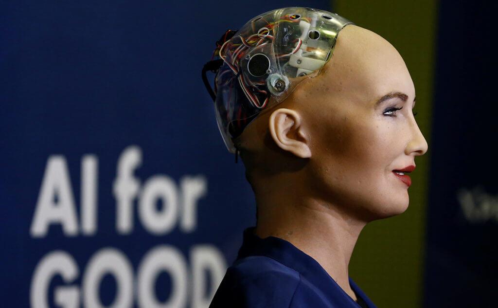 Сбербанк провел в Давосе деловой завтрак с участием робота Софии